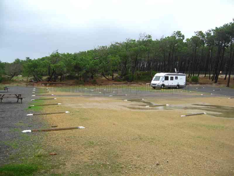 Contis Plage Parking Pour Camping Car