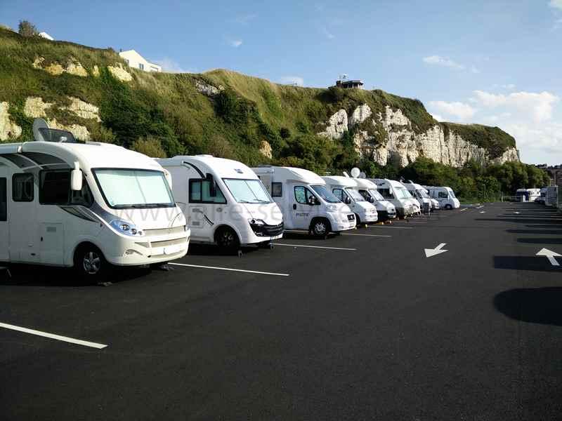 76 dieppe photos aires service camping car - Aire de stationnement camping car port la nouvelle ...