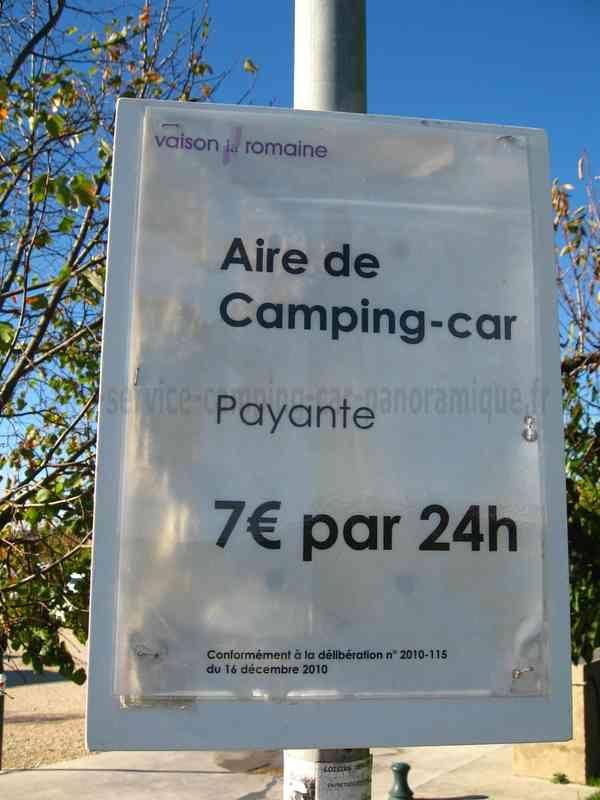 84 vaison la romaine photos aires service camping - Office de tourisme de vaison la romaine ...